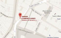 Mapa situacion Tamara Flamenco