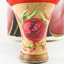 Hand Painted : Casilda Red